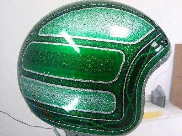 Kustom Airbrush Studio  ,Helmet ,Metal flake