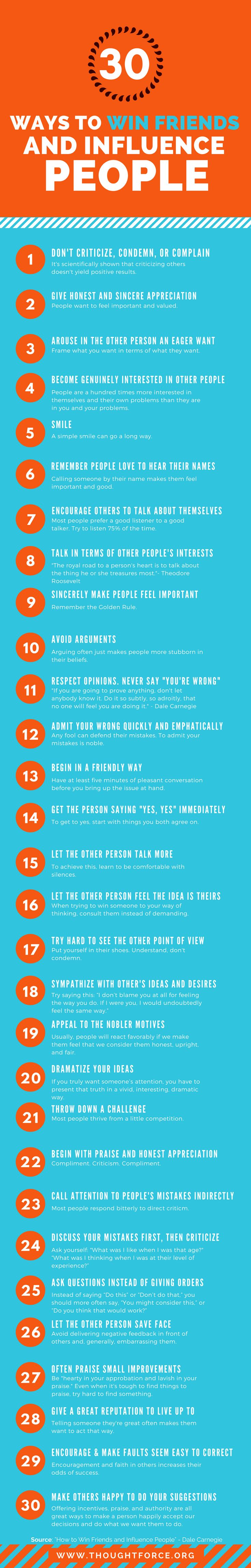 10 best ideas how to win friends and influence people