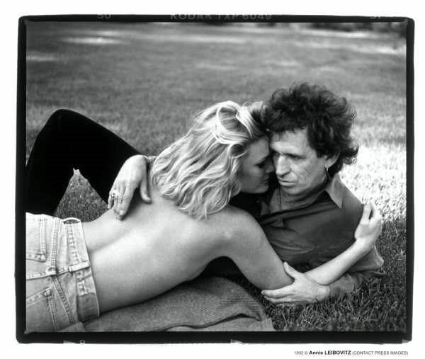 Keith Richards and Patti Hansen shot by Annie Leibovitz
