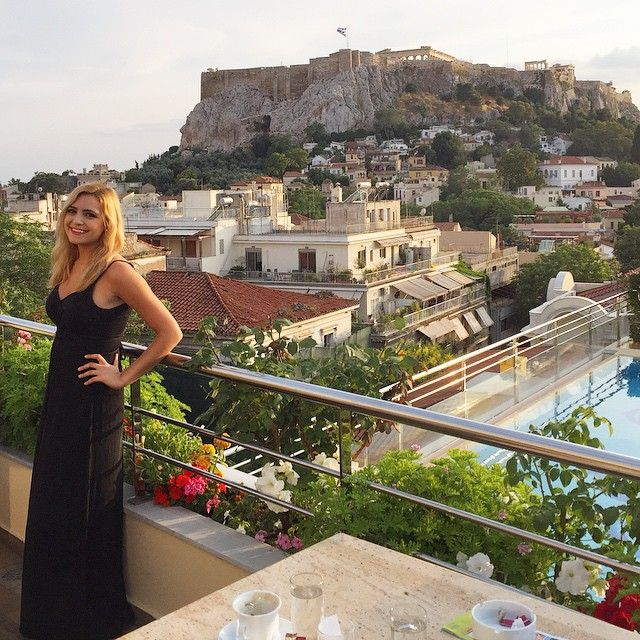 the acropolis #greece #greek #mara #girl #happy #smile #athens #Ηελλας