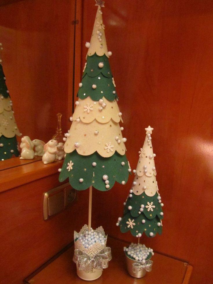 Arbolito de navidad en fieltro fieltro adorable diy - Arboles de navidad manualidades navidenas ...