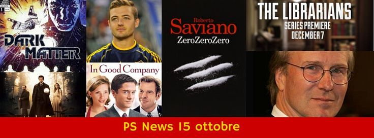 #SerieTv le notizie del giorno:  - William Hurt protagonista di #Human, remake di Real Humans; -  #Zerozerozero di Saviano in tv in 8 episodi; - Trailer di #TheLibrarians - Marc Cherry porta Cheerleaders spie su The CW - #TheIllusionist su The CW - #DarkMatter tratto da una graphic novel Dark Horse per #Syfy - Su ABC la comedy Men in Shorts sulla storia del primo calciatore gay a fare coming out - #Ransom di Frank Spotnitz - CBS vuole una comedy e l'adattamento di #InGoodCompany