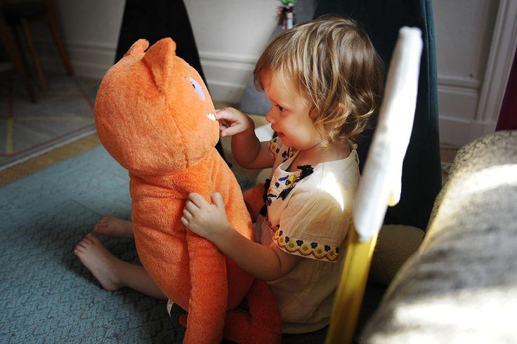 Louison avec Mon Géant