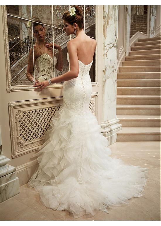 Lovely  Fabulous Vintage Mermaid Wedding Dresses Lace RuffleRuffle SkirtRuffled
