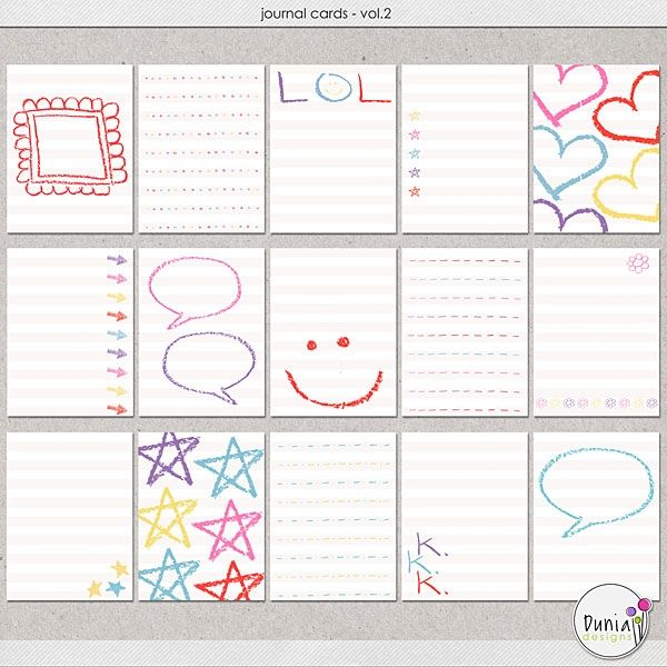 Journal Cards Vol.2 by Dunia Designs