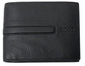 Portefeuille homme BOSS: Tweet portefeuille à 3 volets, cuir vachette, marque BOSS, noir unicolore, logo gravé, format oblong,…