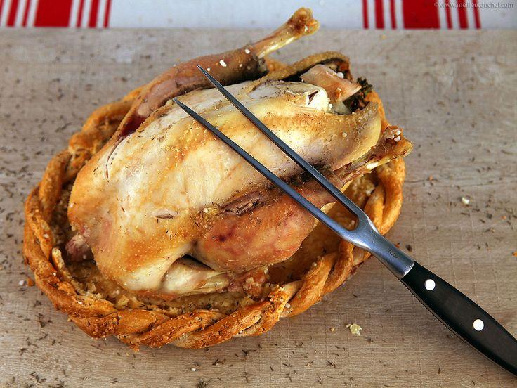 Poulet de Bresse en croûte de sel