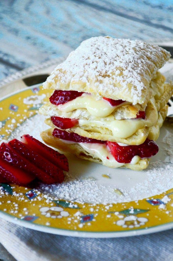 Strawberry Napoleon   Go Go Go Gourmet @Gogogogourmet