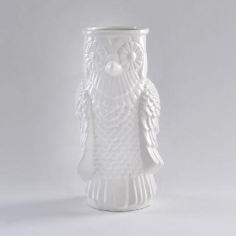 White Ceramic Owl #kirklands #dormroomdecor
