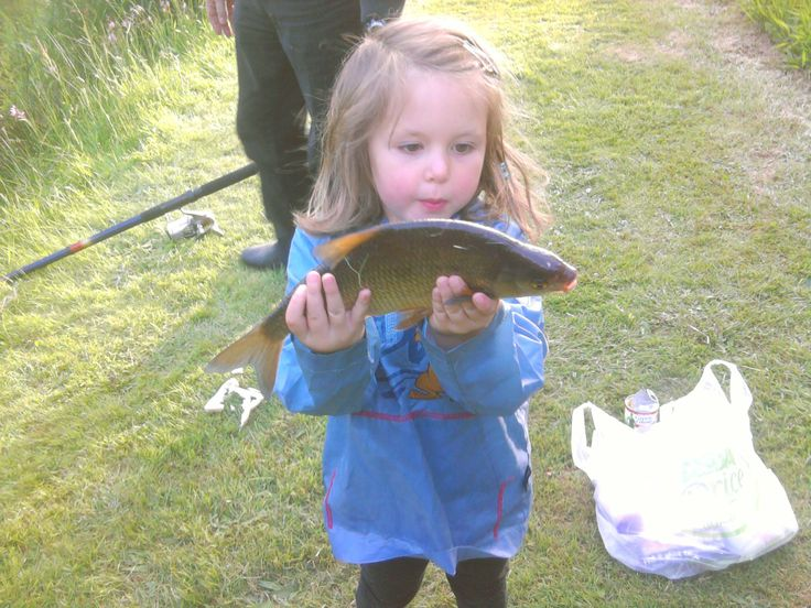 little girl caught fish at Meadow Lakes
