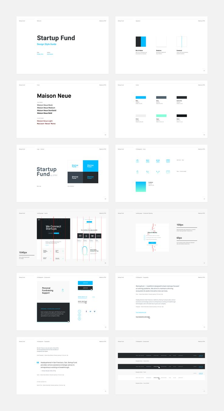 Startup Fund style guide – SiteUp