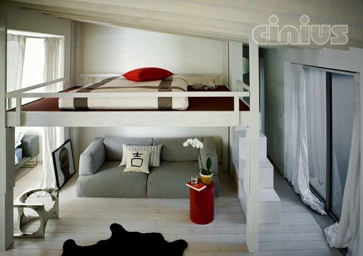 Contemporary double loft bed - RISING UP & DOWN - Cinius