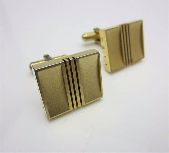 Rectangle Textured  Silver Cufflinks with Borders