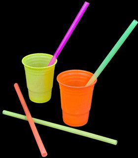 Neon Mammoth Straws - 200 pack  sc 1 st  Pinterest & 75 best Blacklight Party Tableware and Serving images on Pinterest ...