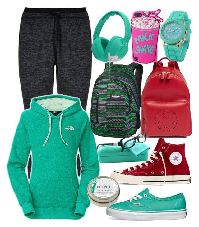 """Mina."" by ella1122ghost on Polyvore featuring adidas, The North Face, Vans, Converse, Dakine, Anya Hindmarch, CB2, Skullcandy and Tiffany & Co."