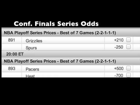 Updated odds to win the NBA championship for the Final 4: Pacers-Heat, Spurs-Grizzlies.     Included are Game 1 lines and series odds.