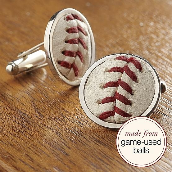 why don't they make these as earrings for women??? game-used baseball cuff links - and it tells you which game they were used in AND you get to pick your team!!!! I WANT!!!!