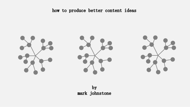 How to Produce Better Content Ideas by Mark Johnstone via slideshare