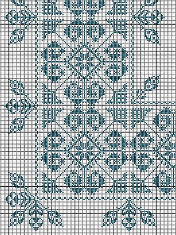 cross stitch corner