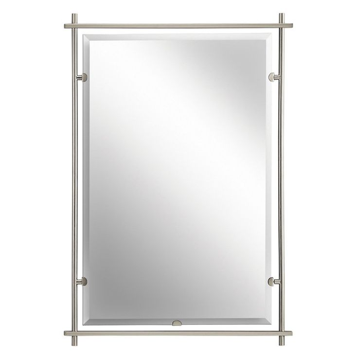 Have to have it. Eileen Brushed Nickel Wall Mirror - 26.5W x 39H in. - $330 @hayneedle