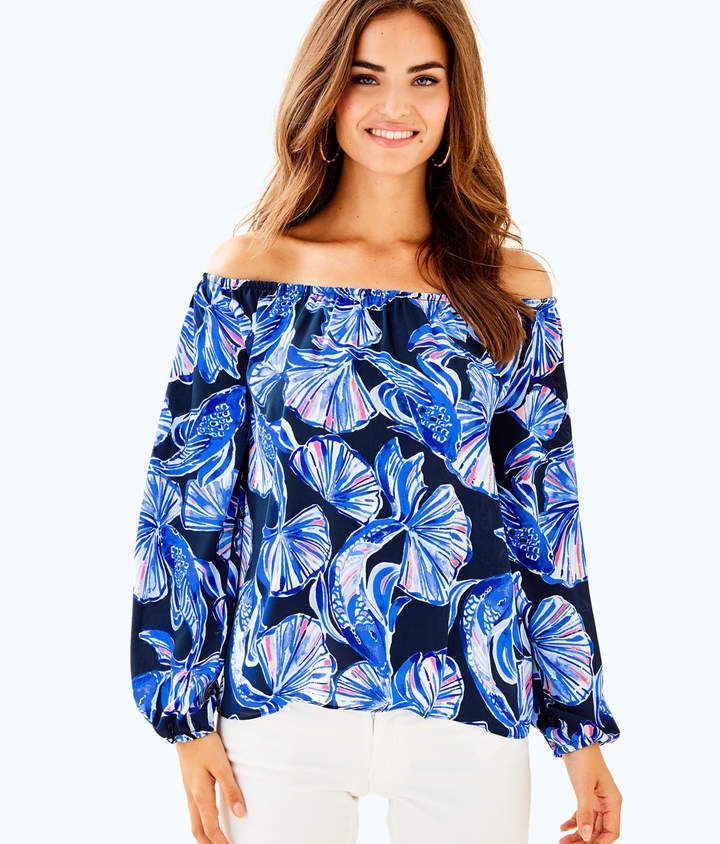 f048eee092a Lilly Pulitzer Lou Lou Off The Shoulder Top   LILLY PULITZER   Tunic ...