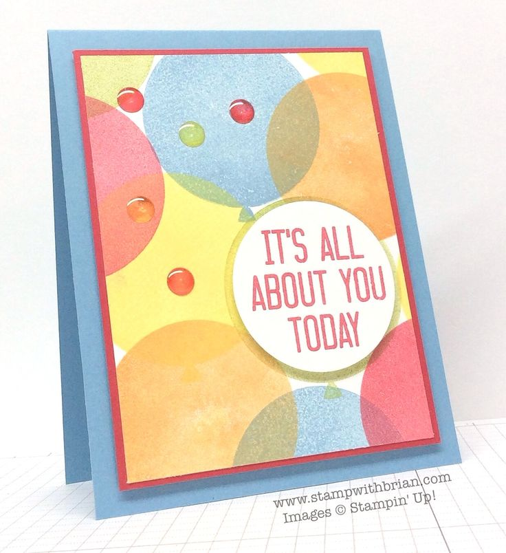 Celebrate Today, Hooray It's Your Day, Stampin' Up!, Brian King