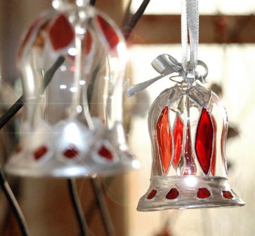 Ręcznie malowane szklane dzwoneczki na choinkę