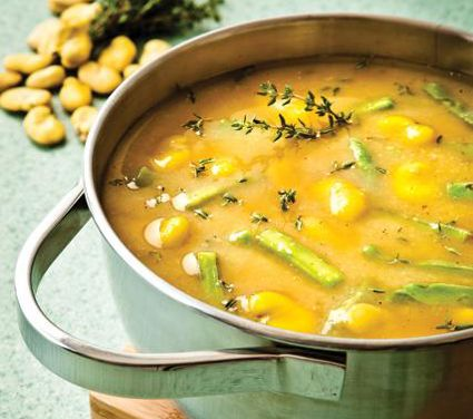 Sopa de habas   Receta completa en www.cocinavital.mx