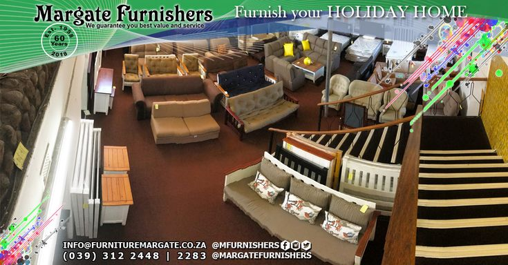 Be sure to furnish your Holiday Home for the season! We stock everything from electrical appliances to outdoor furniture!