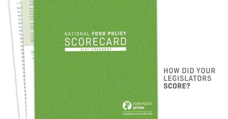 Find out if your lawmakers are good food champions. View Food Policy Action's 2016 Food Scorecard today!