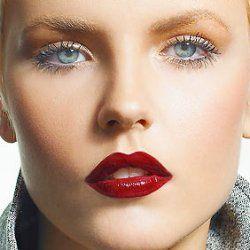Faces of Elegance: Dark Red Lipstick