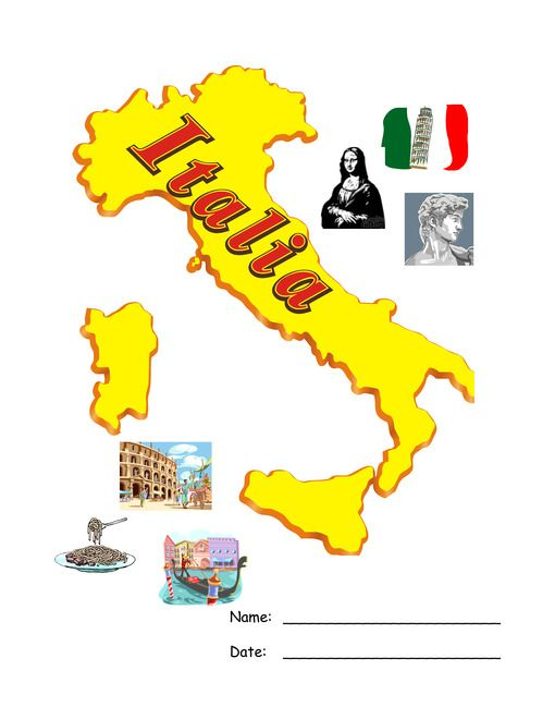 FREE Italy Lapbook: Use for finding Italy/Venice on map and the flag of Italy cut out