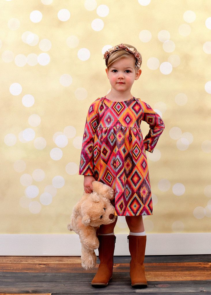 Inspiration for the Oliver + S Playtime Dress sewing pattern.