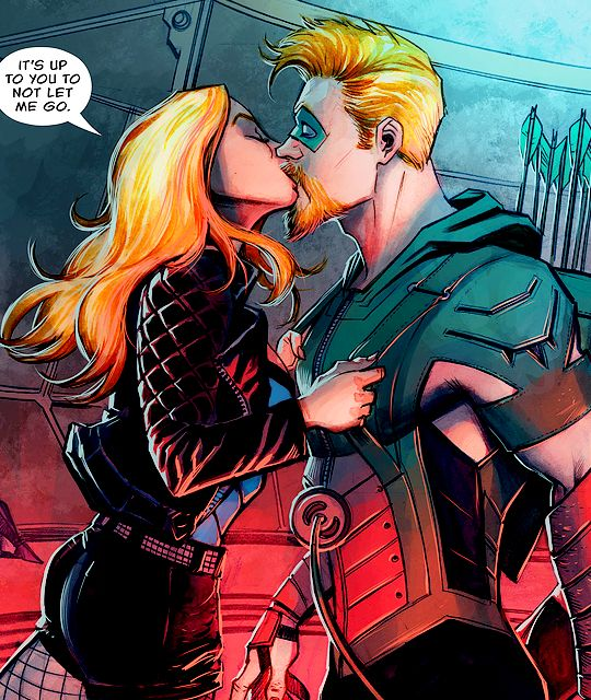 """It's up to you to not let me go."" (Green Arrow #5) - Juan Ferreyra"