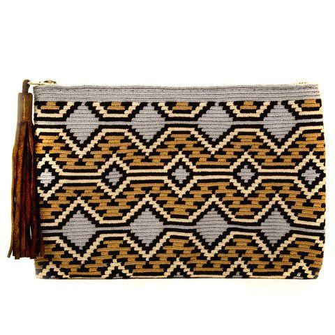 Wayuu Inspired Tapestry Crochet Clutch: