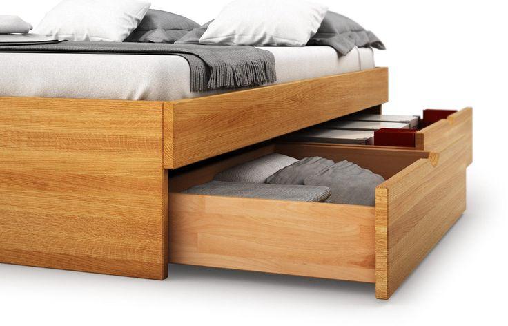 Budapest in Eiche - Bett mit Kasten   Möbel nach maß, Bett ...