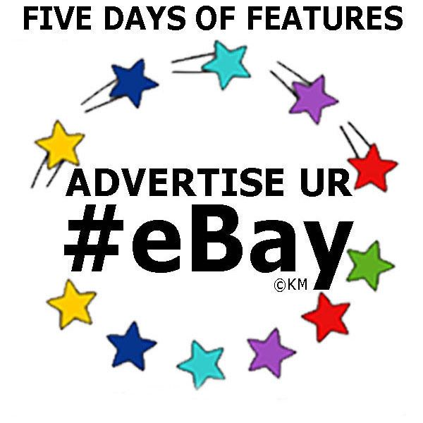 Promote eBay Auctions 5 Days of Features Advertising Marketing @KaliMarcum on Twitter #Advertise #Promote #SocialMedia #Marketing #eBay