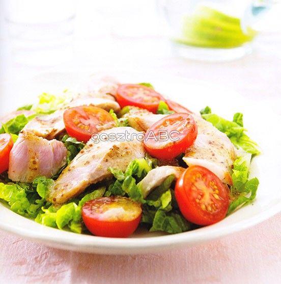 Sült sertéshússaláta koktélparadicsommal | Receptek | gasztroABC