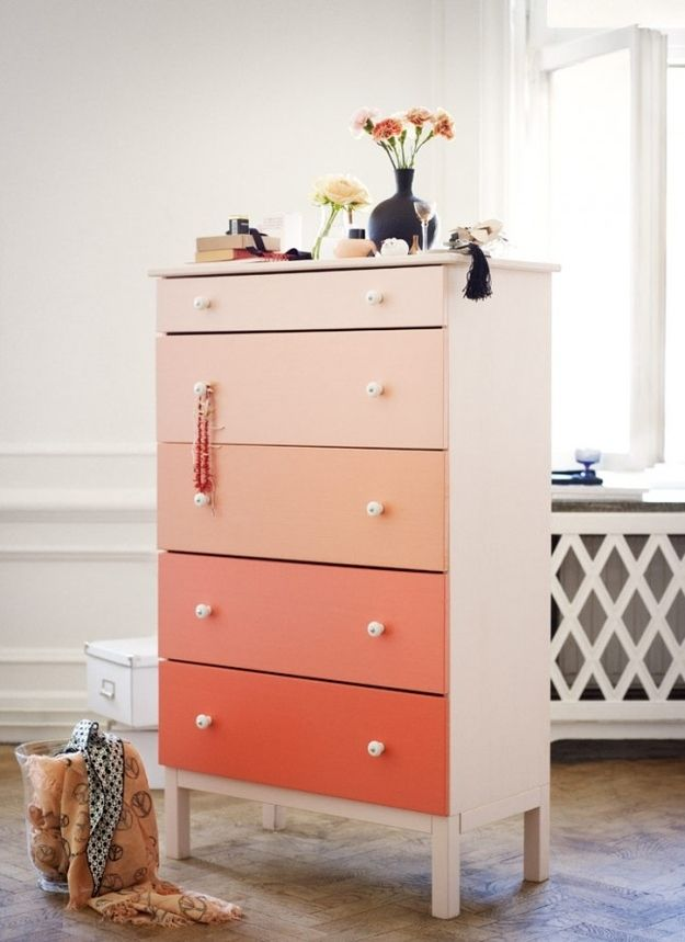 Ombre…   99 Clever Ways To Transform A Boring Dresser