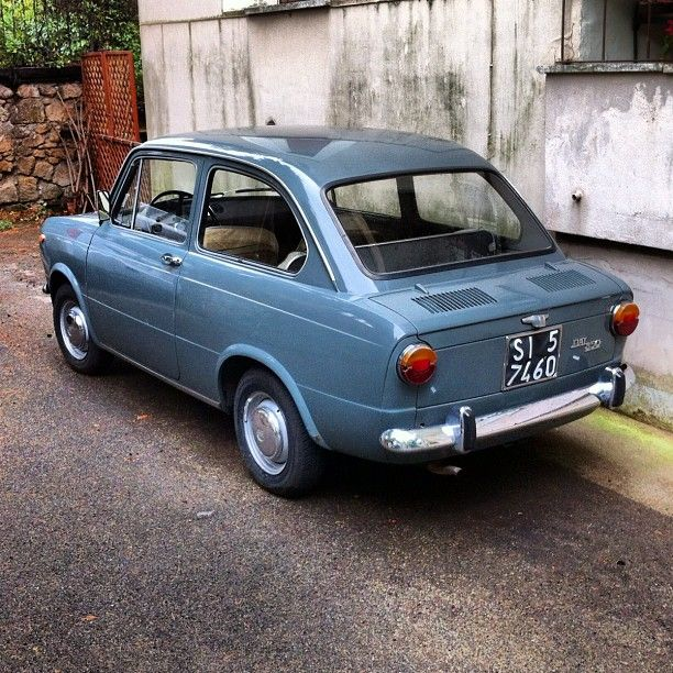 My uncle Beppe used to drive down to our farm house in the South in his burgundy Fiat 850 all the way from Rome. For some reason I – just a toddler then – thought of this pert little number as a very sporty car; probably because it was so very noisy.