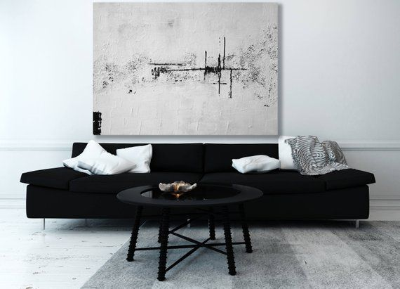 Large White Abstract Painting Abstract Painting Modern Art Extra Large Art Textured Painting Black And White Artwork Cuadros Pinturas Abstracto