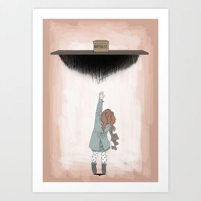 Reaching+Happiness+Art+Print+by+Valentina+Testa+-+$14.56