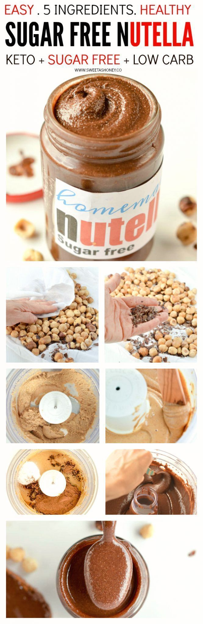 Homemade sugar free nutella.  For more pins like this, follow us @juicemetoo!
