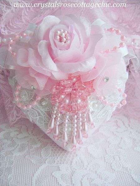 Pink Pearl Heart Ornament