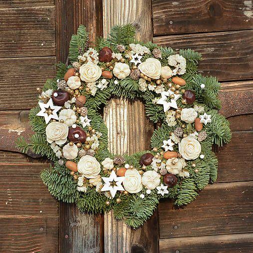 Hydrangea / Vianočný venček z jedličky
