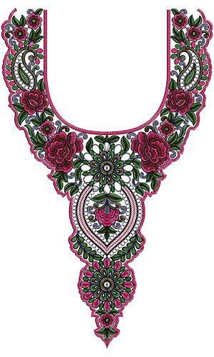 Embroidery Neck Design 13811