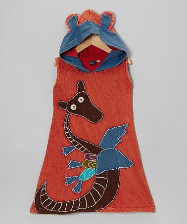Look at this #zulilyfind! Red Hooded Swing Dress - Toddler & Girls #zulilyfinds