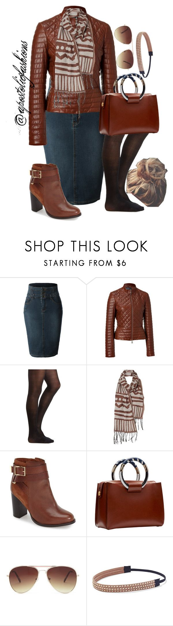 """""""Apostolic Fashions #894"""" by apostolicfashions on Polyvore featuring LE3NO, Salvatore Ferragamo, Charlotte Russe, Vero Moda, Topshop, The Row, Forever 21 and New York & Company"""