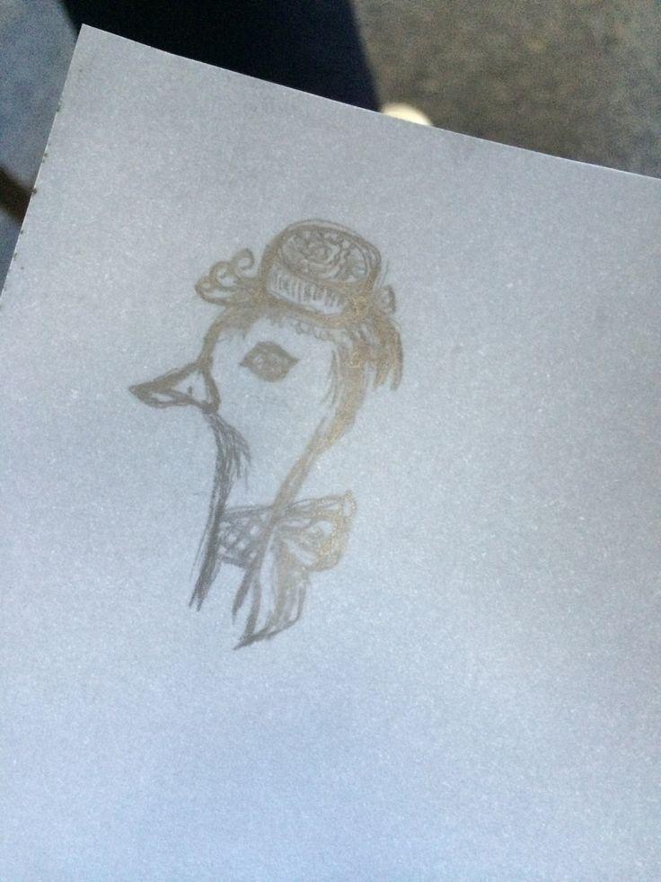 Lady duck!