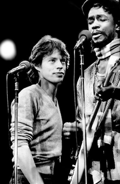 Mick Jagger and Peter Tosh